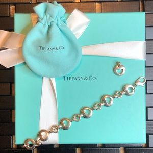 Authentic Vintage Tiffany heart bracelet and Charm